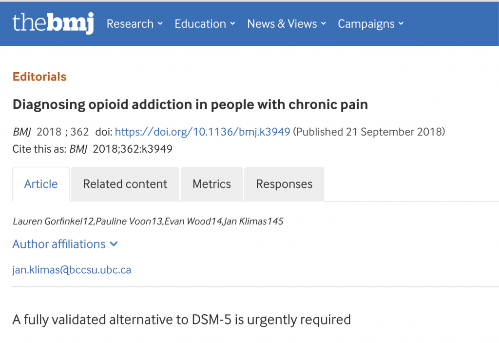 Diagnosing opioid addiction