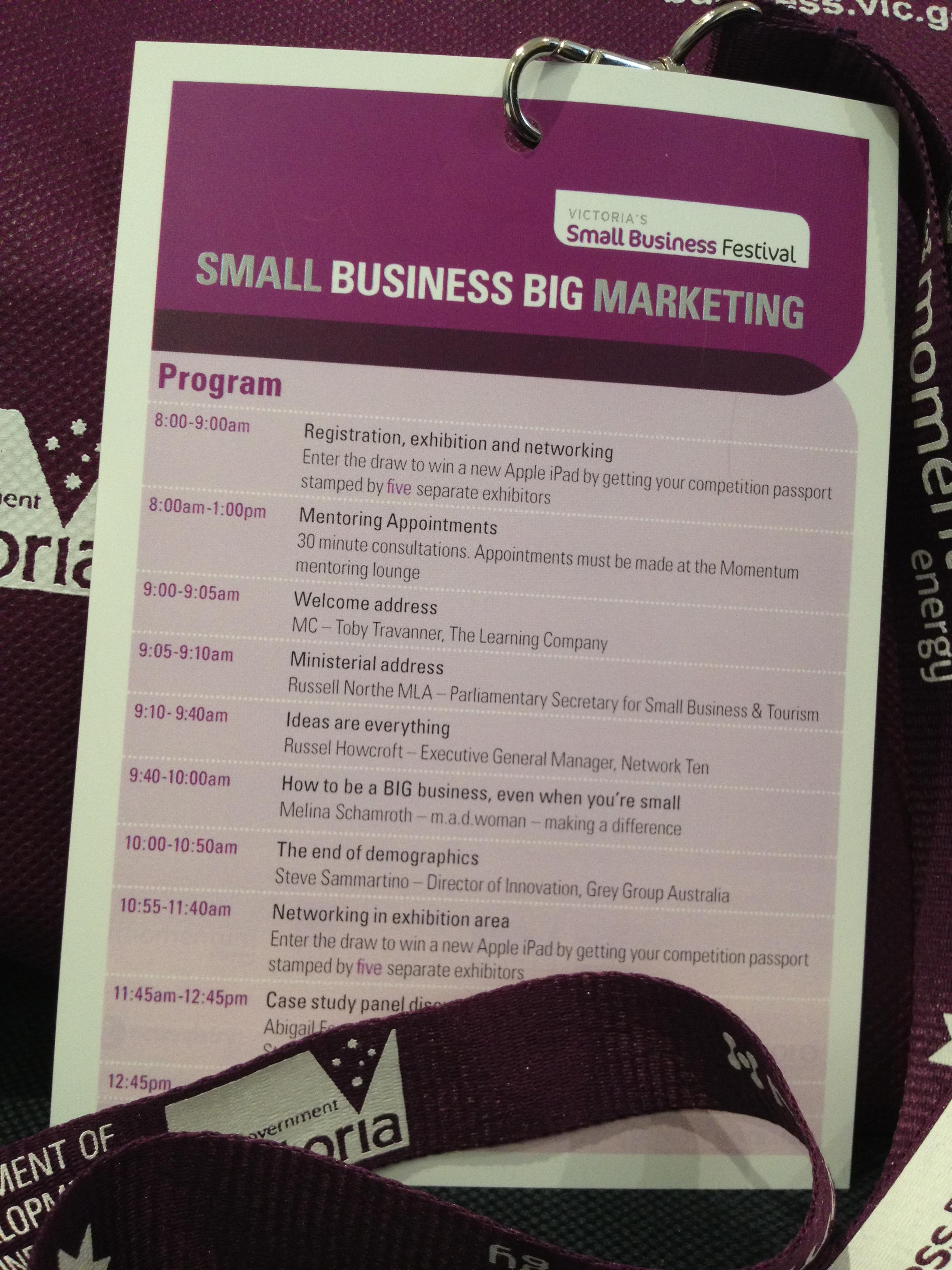 Victoria's Small Business Festival