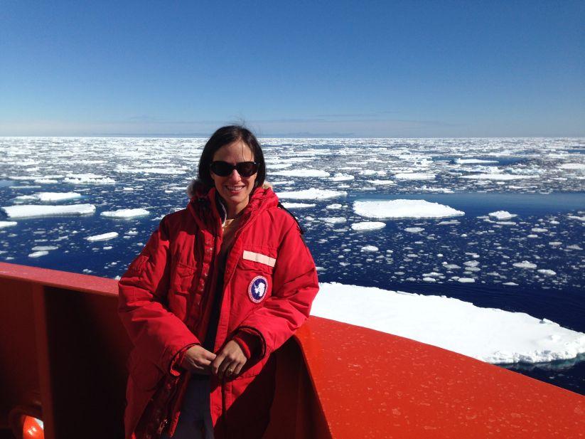 Dr Alix Post in Antarctica